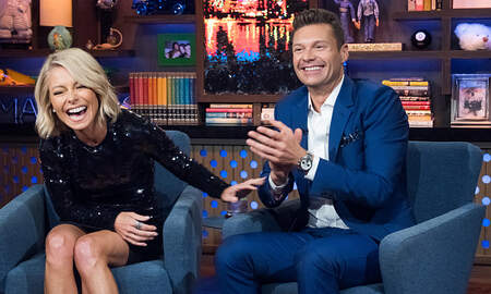 Z100 News - Watch Ryan Seacrest And Kelly Ripa Reenact Bradley Cooper And Lady Gaga