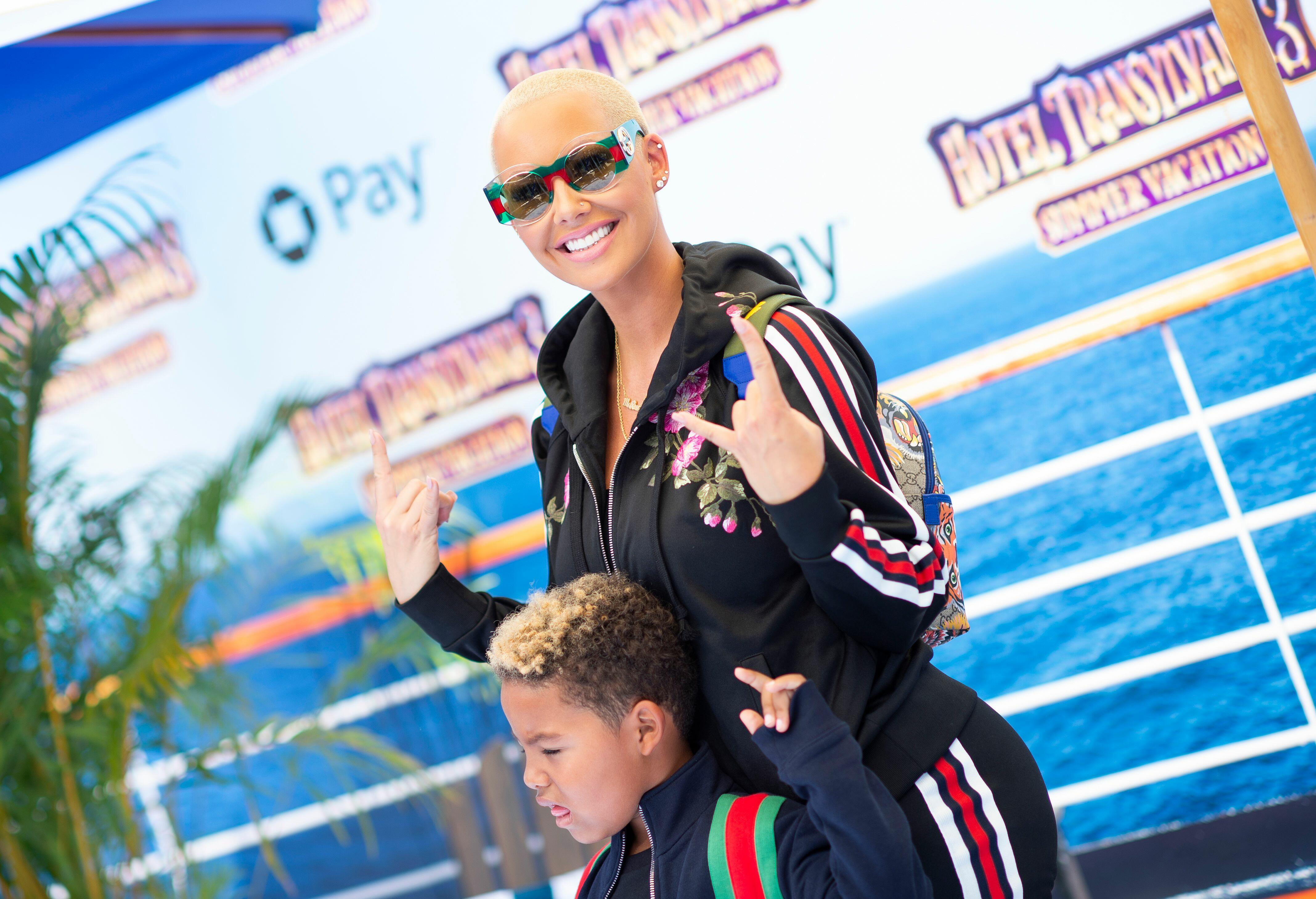 Adorable! Amber Rose shares a sweet birthday video of her son!