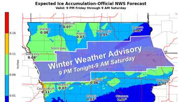 Local News - Ames weekend:  Ice, thunderstorms, then snow MAPS