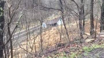 None - Watch: Landslide Take Out House In Bluefield WV