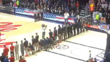 Sports Top Stories - Basketball Players Kneel During National Anthem On Day Of Confederate Rally
