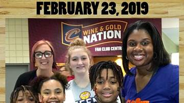 Photos - REAL 106.1 at the Cavs game Saturday February 23rd