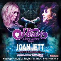 Win A Pair Of Tickets To See Heart & Joan Jett September 3rd at Sunlight Supply Amphitheater!