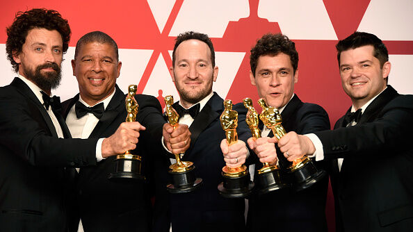 Best Animated Feature Film winners for 'Spider-Man: Into the Spider-Verse' - Getty Images