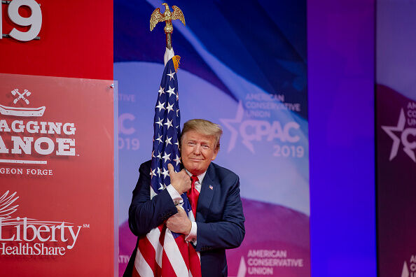 Trump With Flag