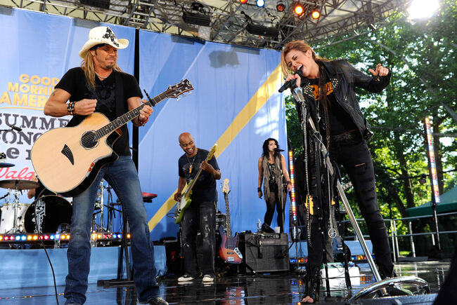 "Miley Cyrus Performs On ABC's ""Good Morning America"" - June 18, 2010 - Show"