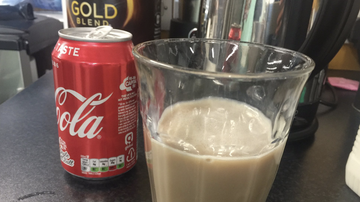 Rockin' Rick (Rick Rider) - Milk mixed with Coke...I guess it's a thing now!