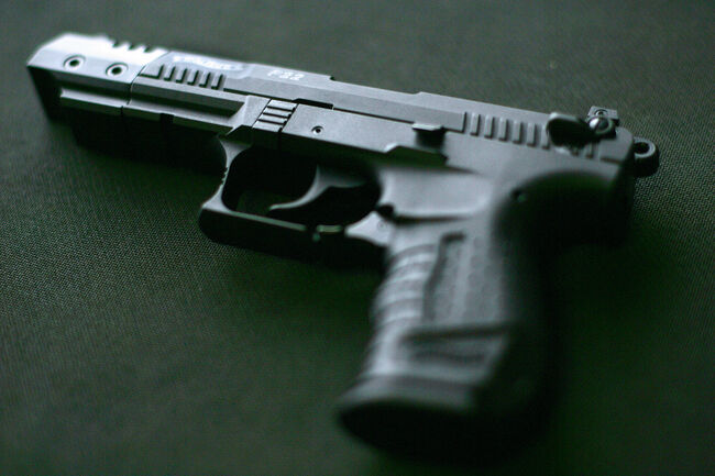 A Walther P22 pistol, which according to