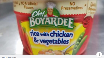 Steve - Packages of 'Rice with chicken & vegetables- may contain beef ravioli
