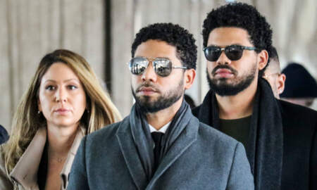 Entertainment - Jussie Smollett Confidently Struts Into Court For Hearing