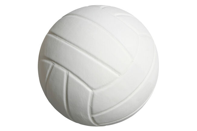Close-Up Of Volleyball Over White Background.
