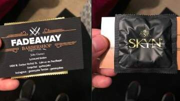 Big Rig - Barber STAPLES Condoms To Biz Cards, Internet Reacts