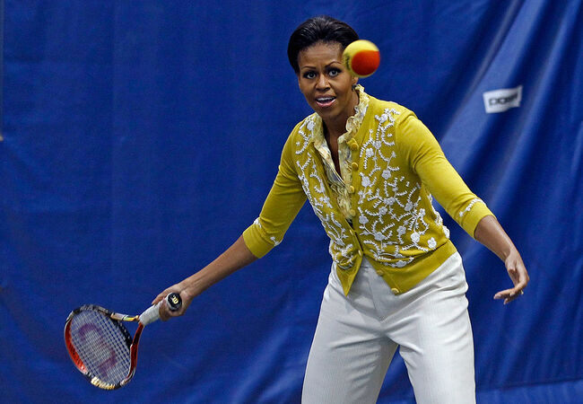 Michelle Obama And Samantha Cameron Attend Olympic-Themed Children's Event