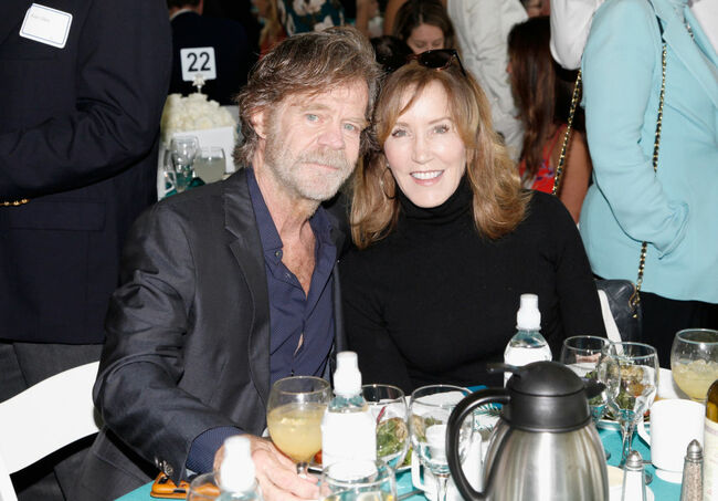 William H. Macy and wife Felicity Huffman