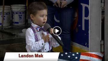 Bob Hauer - AMAZING 4-year-old Landon Mak Sings The National Anthem