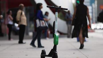 Marita MacKinnon - Brookline says hello to electric scooters