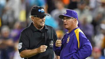 Louisiana Sports - LSU Baseball Coach Honored At Dodger Stadium