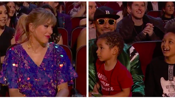 iHeartRadio Music Awards - Alicia Keys' 4-Year-Old Son Adorably Flirts With Taylor Swift: Watch