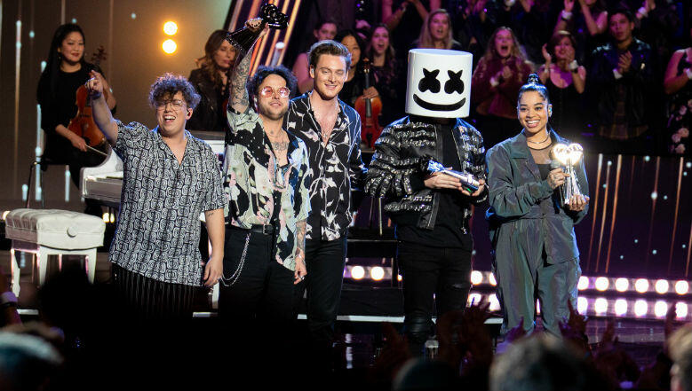Marshmello, Lovelytheband & Ella Mai Perform At iHeartRadio Music Awards