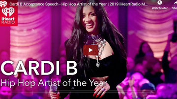 Jess Live - Cardi B Accepts Her iHeartRadio Music Award for Hip Hop Artist of the Year!