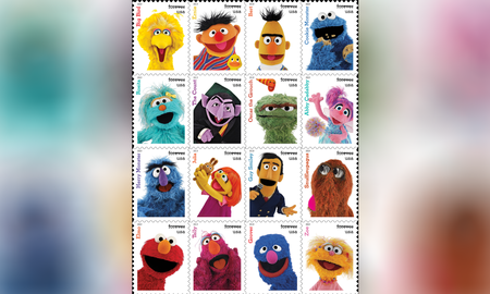 Weird News - U.S. Postal Service To Release 'Sesame Street' Stamps in 2019