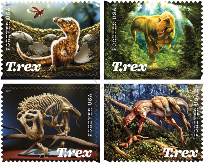 Post Office to release T. Rex stamps