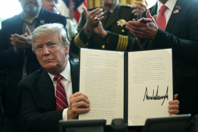 President Trump Vetoes Emergency Declaration Resolution Approved By Congress