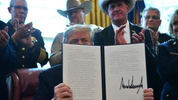 Politics - President Trump Signs First Veto of Presidency