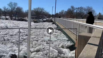Local News - Power of flooded river ice flows in Greene, Iowa VIDEOS