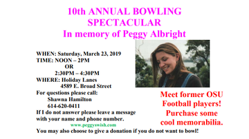 Community Break - 3.23.19 10th Annual Bowling Spectacular in Memory of Peggy Albright