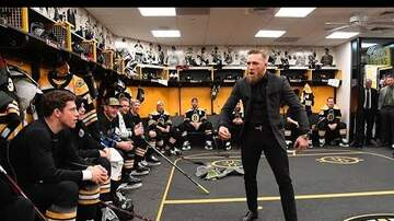 Monsters - CONOR McGREGOR GIVES THE BRUINS A PEP TALK!!