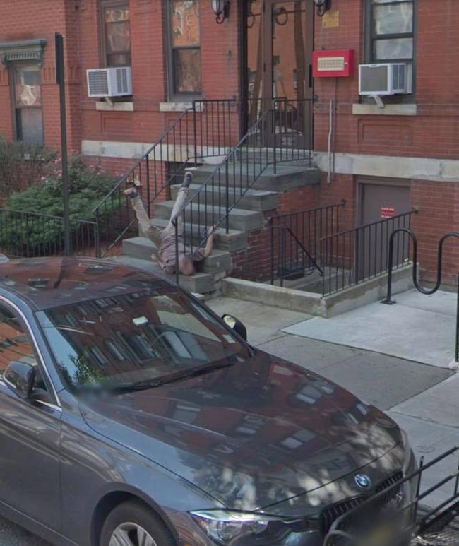 Google Maps Shows Hoboken Man Falling Down His Apartment Steps