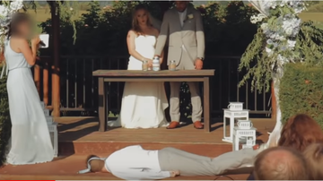 BC - Best Man FAINTS During Maid Of Honor's Wedding Performance!