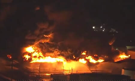 National News - Chemical Fire In Texas Expected To Burn For At Least Two More Days