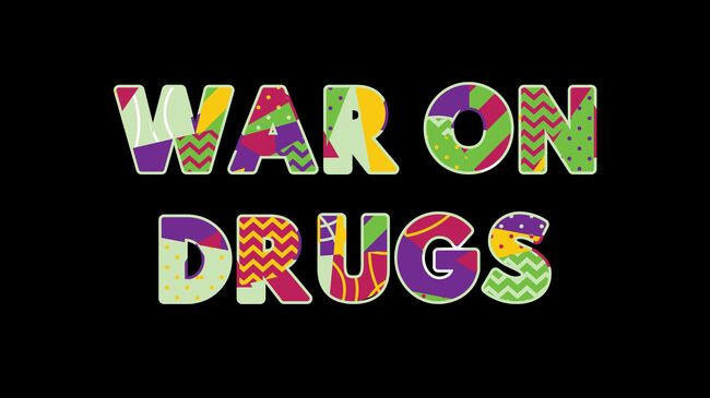 War on Drugs Concept Word Art Illustration
