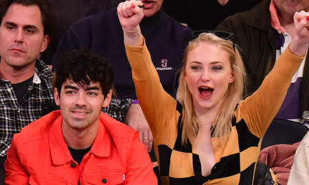 Entertainment News - Sophie Turner Chugs A Glass Of Wine At Rangers Game, Crowd Goes Nuts: Watch