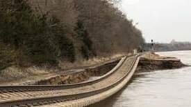 Ritch Cassidy - Check Out What the Flood Waters Did to These Train Tracks
