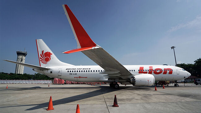Lion Air Boeing Max 8 Aircraft Grounded At Jakarta International Airport
