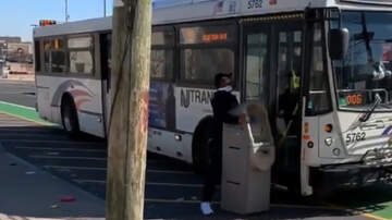 National News - Viral Video Shows Man Trying To Bring An ATM Onto A New Jersey Transit Bus