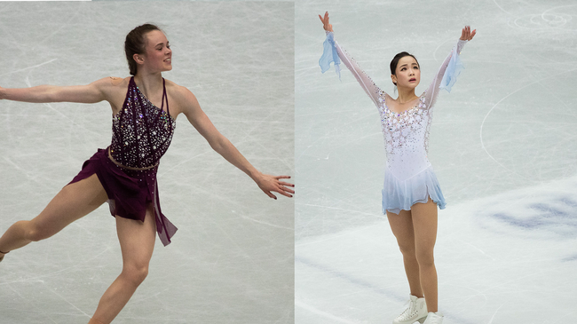 US skater accused of cutting her south korean rival at world championships