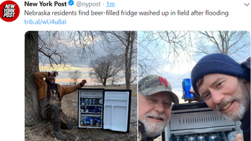 Steve - Nebraska residents find beer-filled fridge in field after flooding