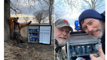 BC - Men Find Fridge Filled With Beer In Field After Flooding
