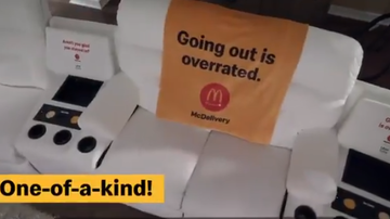 BC - La-Z-Boy Makes Custom McDelivery Couch With Built-In McFlurry Chiller