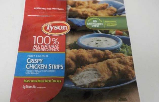 recalled crispy chicken strips