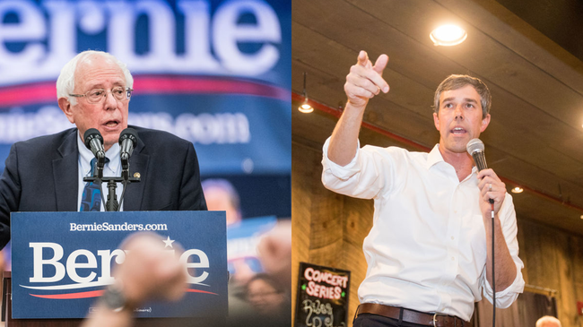 man raised more than $250,00 from fake sites  supporting bernie sanders and beto o'rourke