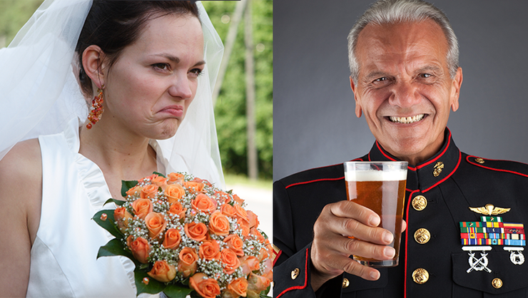 Angry Bride Kicks Veteran Out Of Wedding For Wearing His
