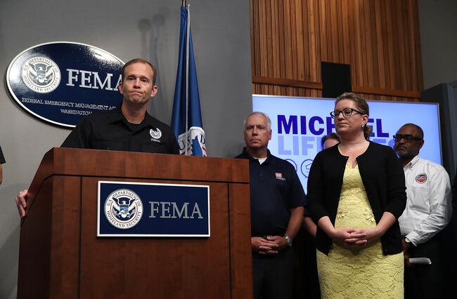 FEMA Officials Hold Briefing On Hurricane Michael At FEMA Headquarters In Washington, D.C.