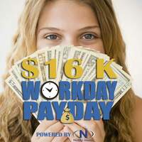 16 chances to win $1000 EACH WEEKDAY!