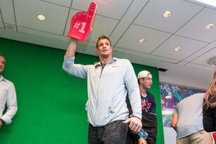 Pictures of Gronk partying in honor of Gronk!