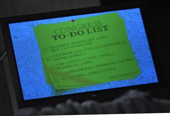 """A """"to-do"""" list for Congress is seen on a"""